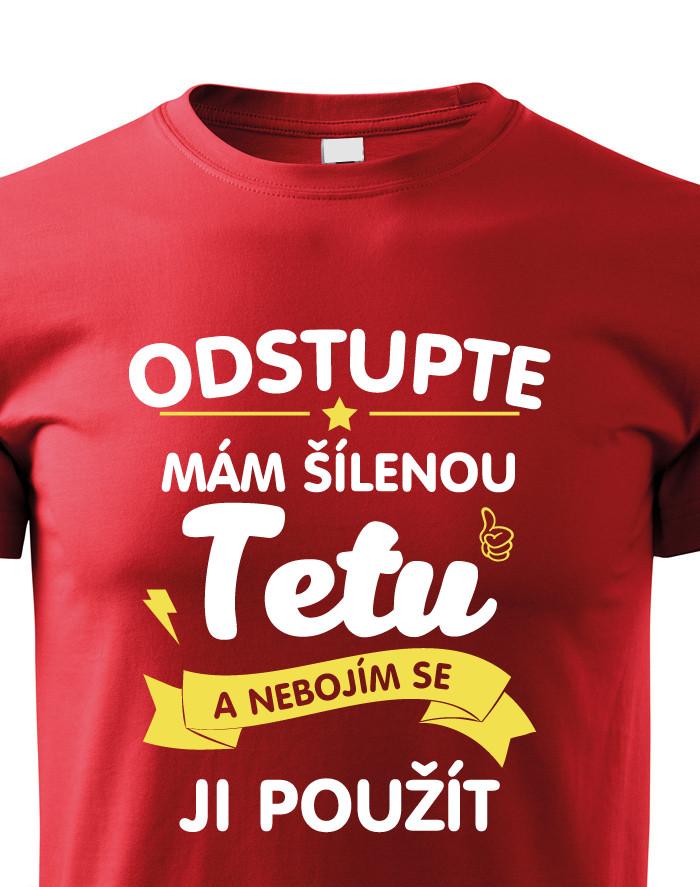 23824cc5ed4 Dětské tričko s potiskem mám šílenou tetu - BezvaTriko.cz