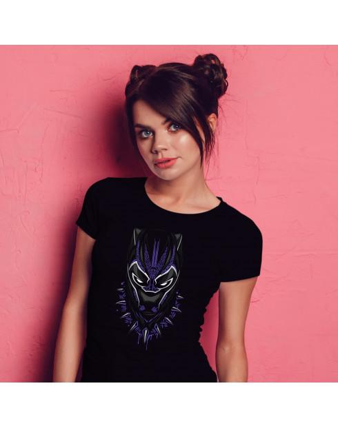 Dámské tričko s potiskem Black Panther