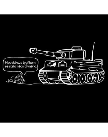 Pánské military triko Medvídek Pů a tygřík
