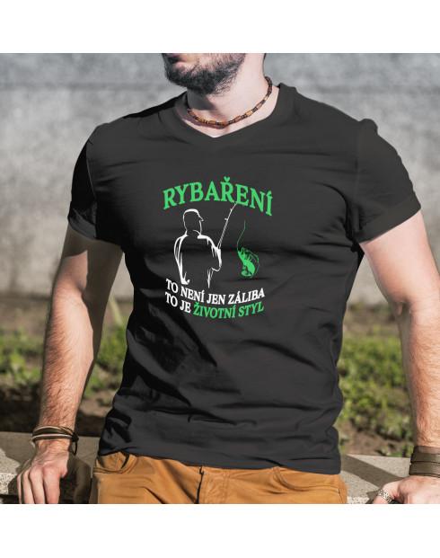 Vtipné rybářské tričko Rybaření je životní styl