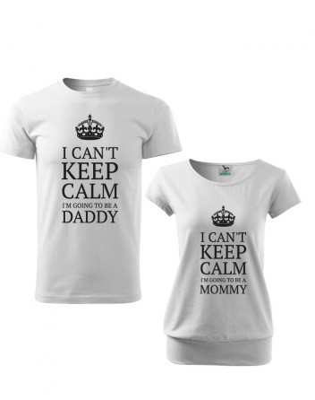 Párová trika pro budoucí maminku a partnera