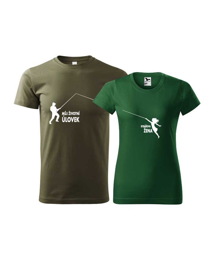 Párové tričko pro rybáře Životní úlovek - rybářova žena
