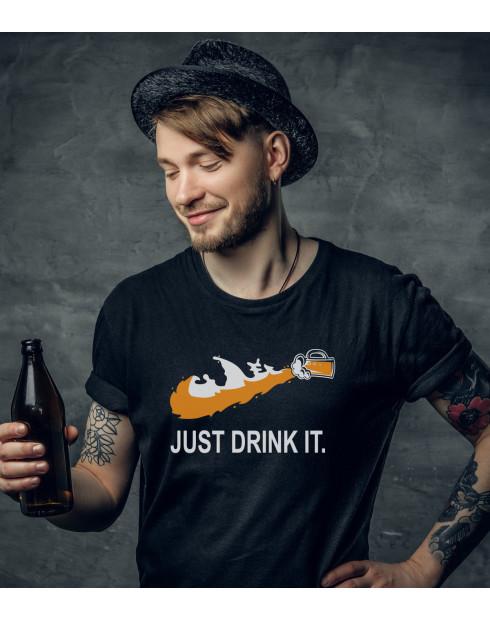 Pánske tričko s potiskem Just drink IT