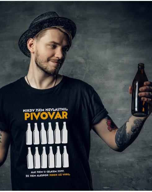 Pánské tričko s pivním potiskem Nikdy jsem nevlastnil pivovar
