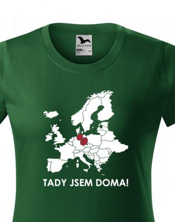 Dámské triko pro cestovatele Tady jsem doma