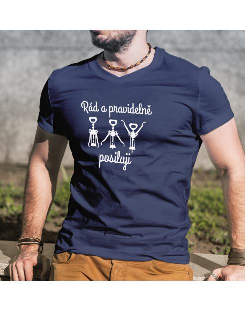 Pánské tričko rád a pravidelně posiluji