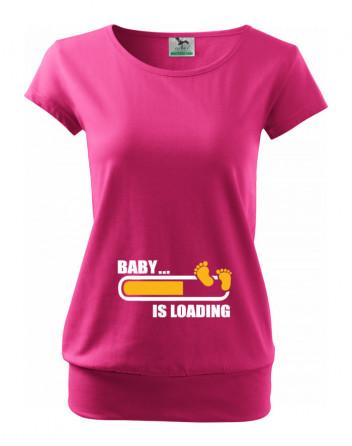 Těhotenské tričko Baby... is loading