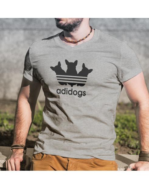 Pánské tričko s vtipným potiskem Adidogs