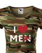 Dámské tričko s potiskem I love Me(n)