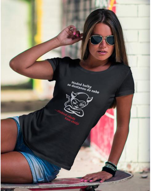 Dámské tričko hodné, zlobivé holky