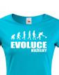Dámské tričko pro kuželkáře Evoluce kuželky