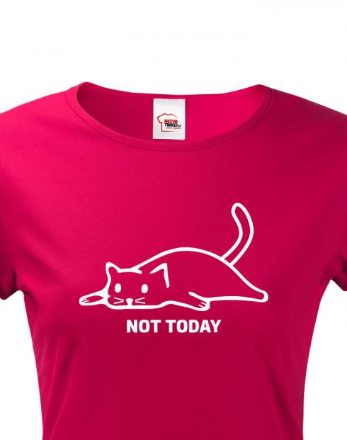 Dámské tričko s kočkou Not today