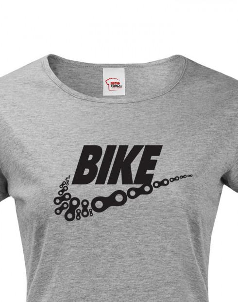 Dámské tričko pro cyklisty BIKE