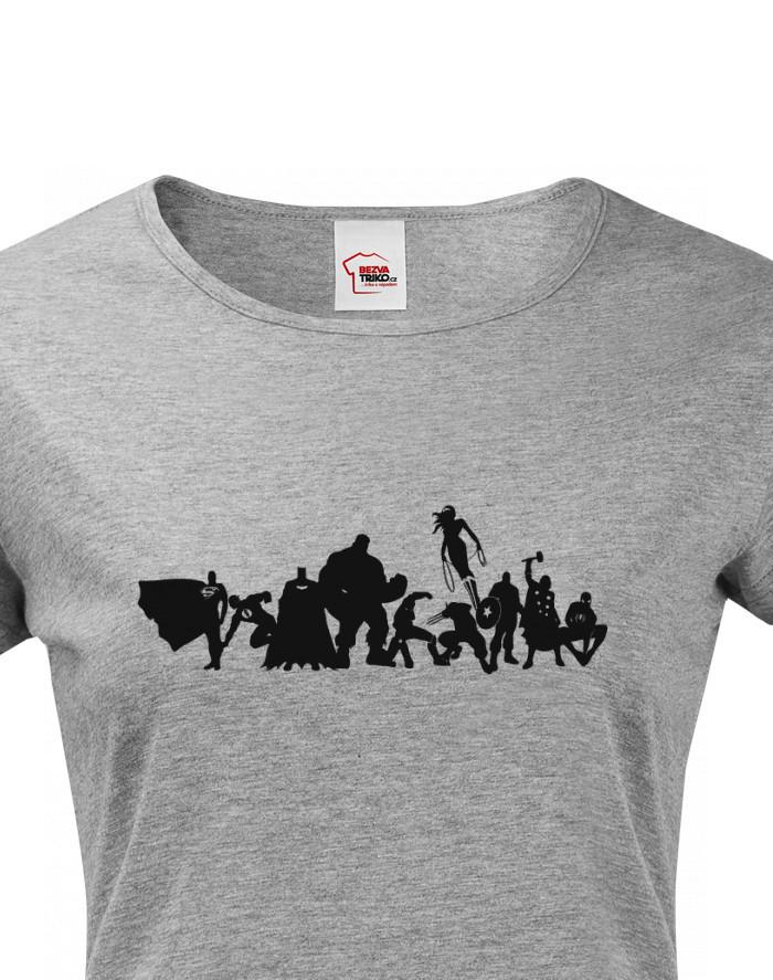 Dámské tričko se superhrdiny