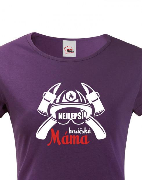 Hasičské tričko Nejlepší hasičská máma