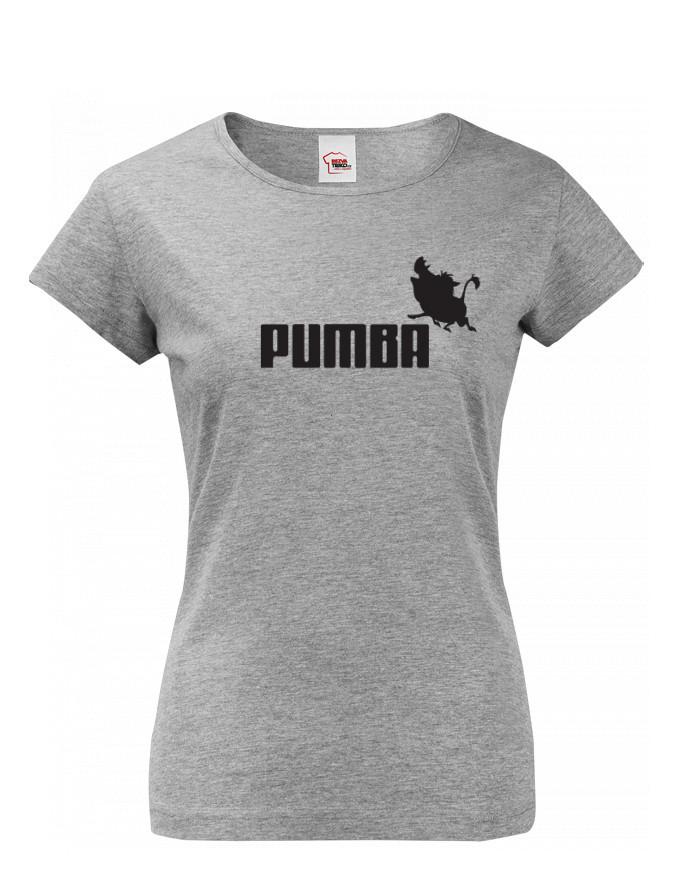 Dámské tričko s potiskem Pumba - originální dárek k narozeninám