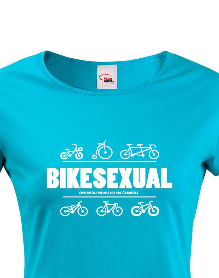 Dámské tričko pro cyklisty Bikesexuál