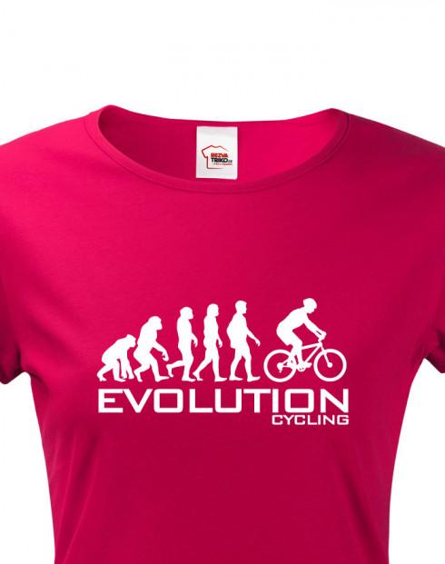 Dámské cyklo triko Evoluce cyklistiky