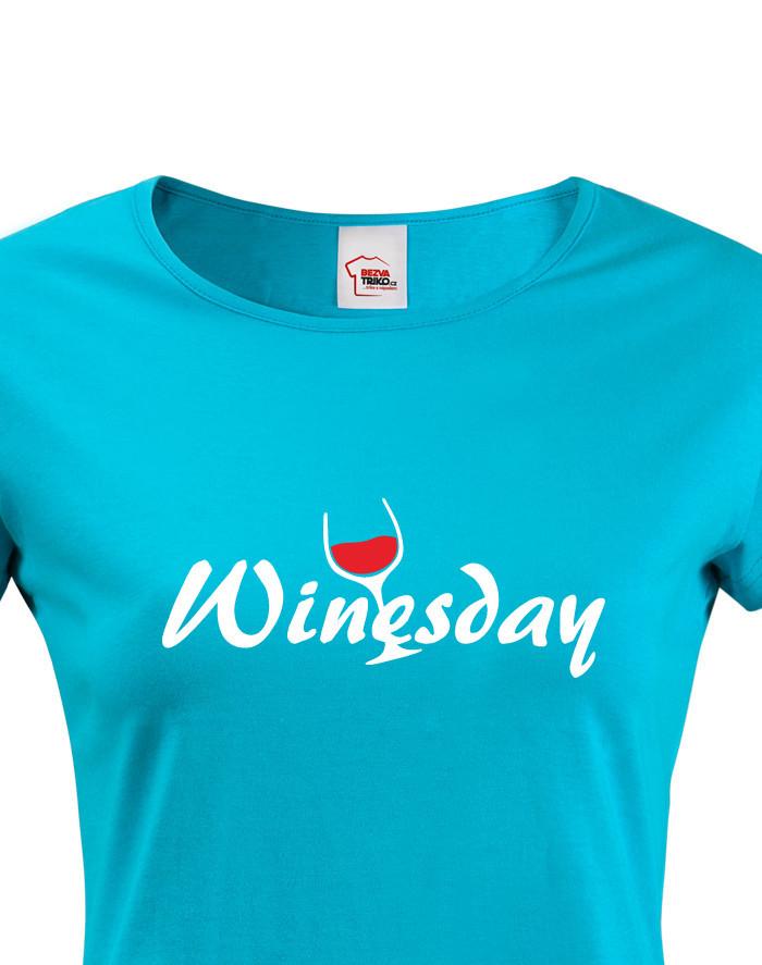 Dámské tričko s vínem Winesday