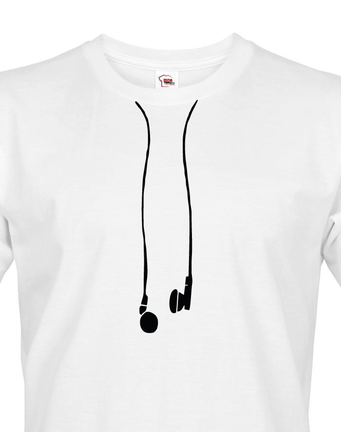 Pánské tričko se sluchátky