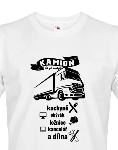 Pánské tričko pro kamioňáky Kamion to je moje...