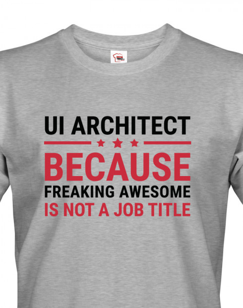 Pánské tričko pro UI architekty