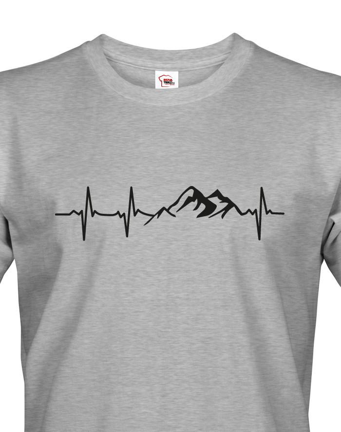 Pánské turistické tričko Tep hory