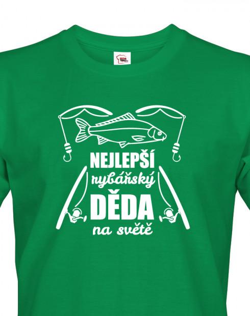 Tričko s potiskem pro dědu rybáře