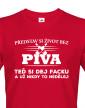 Pánské tričko s potiskem Život bez piva
