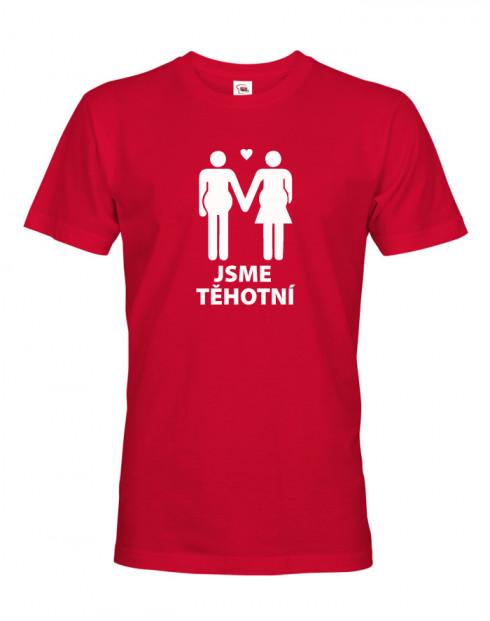 Pánské tričko pro budoucí tatínky Jsme těhotní