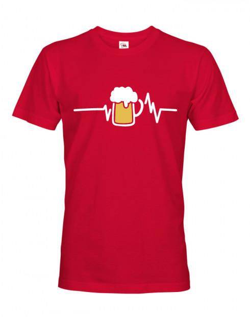 Pánské tričko s potiskem pivo