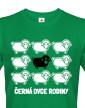 Pánské tričko černá ovce rodiny