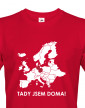 Pánské triko pro cestovatele Tady jsem doma