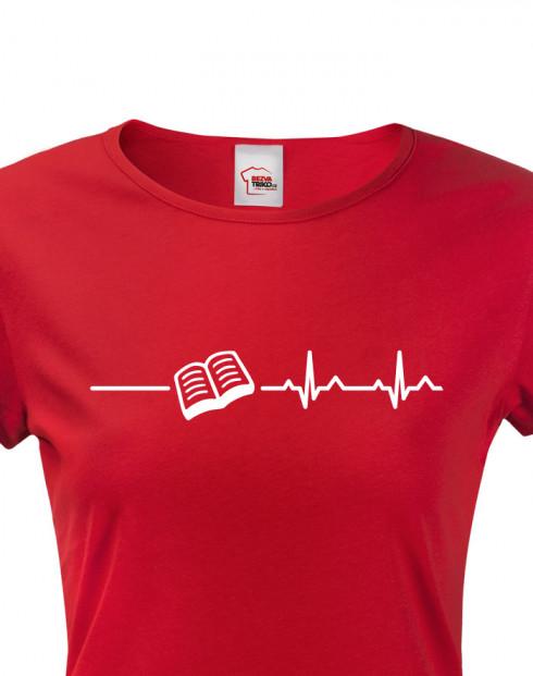 Dámské tričko pro milovníky knížek a četby