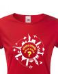 Dámské tričko pro cestovatele Všude dobře, tak co doma?
