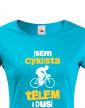Dámské tričko Cyklista tělem i duší