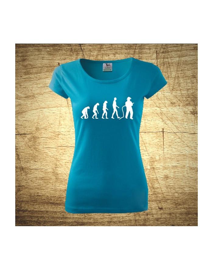 Dámské tričko pro hasiče Evoluce hasiče