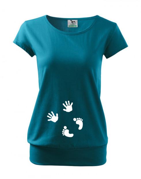 Těhotenské Tričko s motivem Otisky