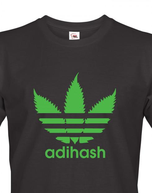 Pánské tričko s marihuanou Adihash