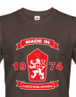 Pánské tričko se lvem a znakem ČSSR