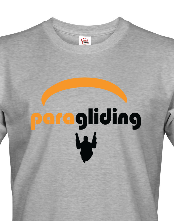 Pánské tričko s motivem Paragliding 2 - ideální dárek k narozeninám