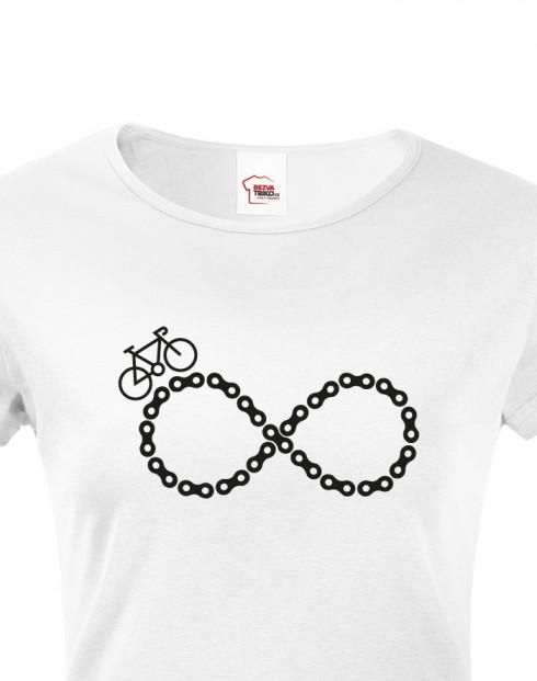 Dámské tričko Cyklistické nekonečno