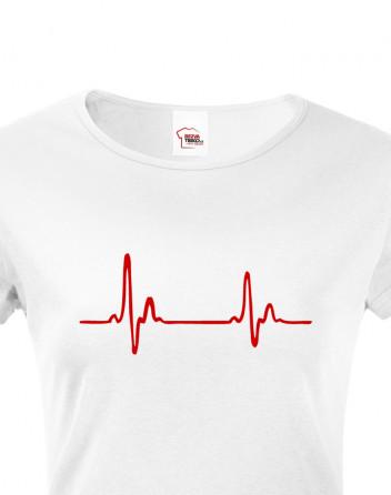 Dámské tričko pro doktorky a sestřičky Pulz