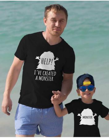 Trika pro otce a syna Monster