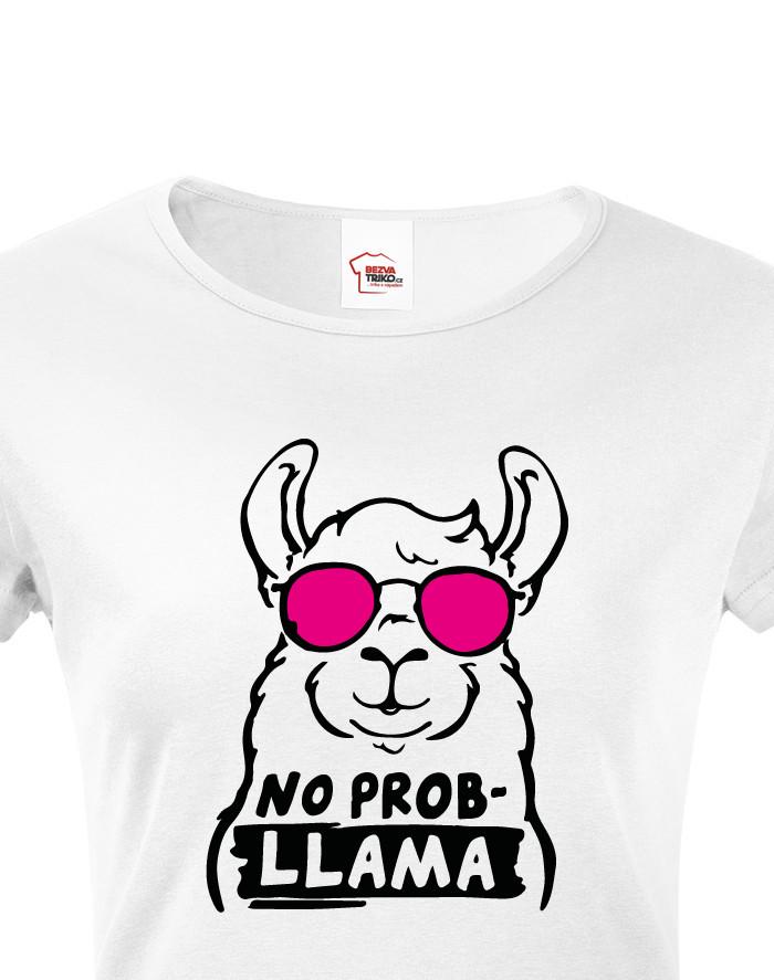 Dámské tričko No Prob - LLama