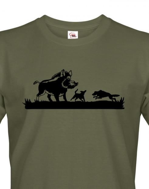 Tričko pro myslivce Lov divokých prasat
