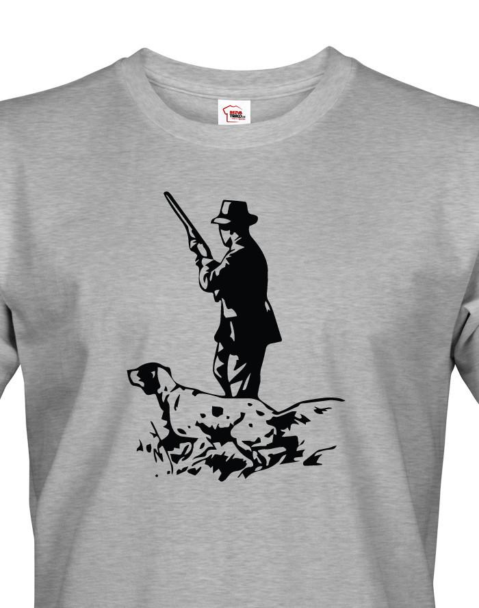 Tričko pro myslivce s německým ohařem - skvělý dárek k narozeninám