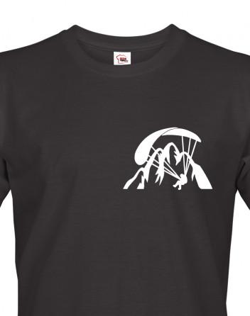 Tričko pro fanoušky paraglidingu s mini potiskem na srdci