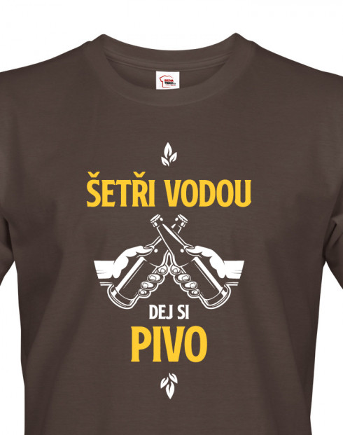 Pánské tričko Šetři vodu, dej si pivo