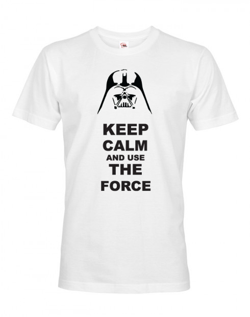 Pánské tričko Keep calm and use the force